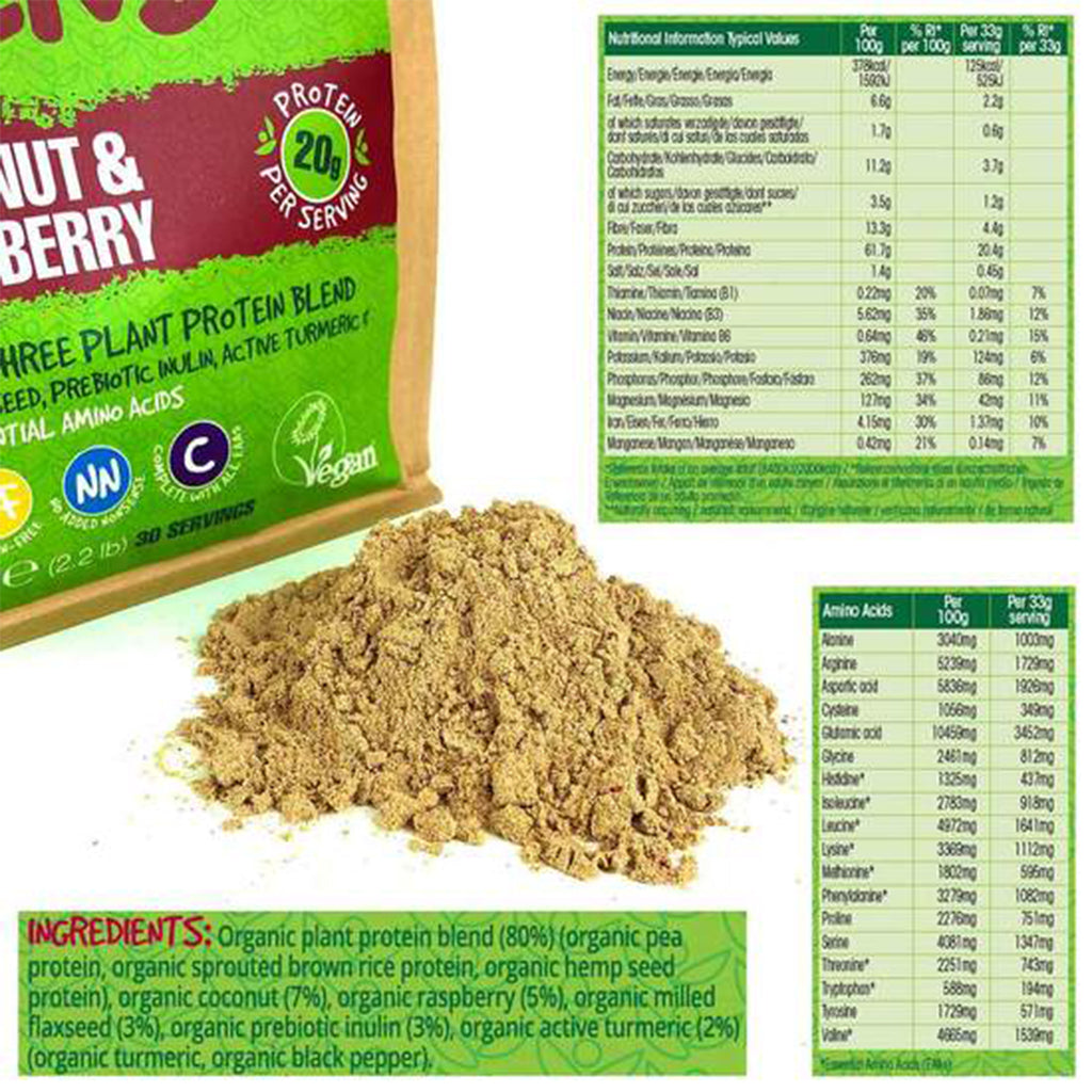Organic Vegan Protein Blend from BodyMe  - Coconut & Raspberry