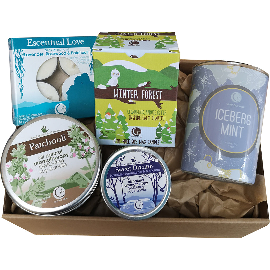 Candle Gift Box By Way Out Wax