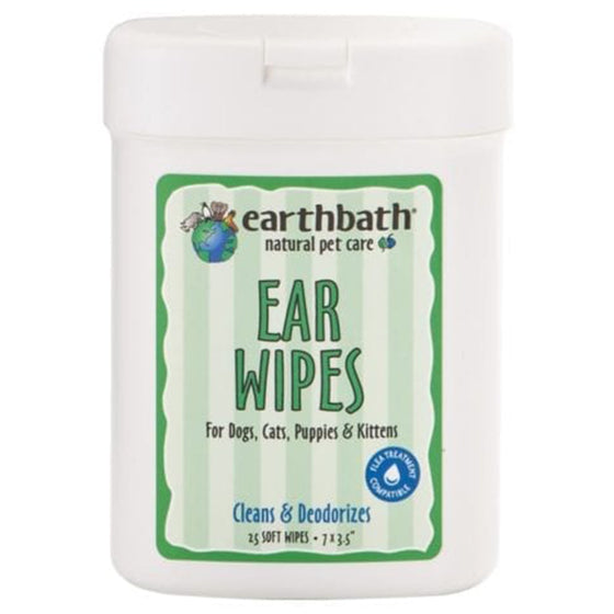 Earthbath Ear Wipes - 25's-Earthbath-Live in the Light