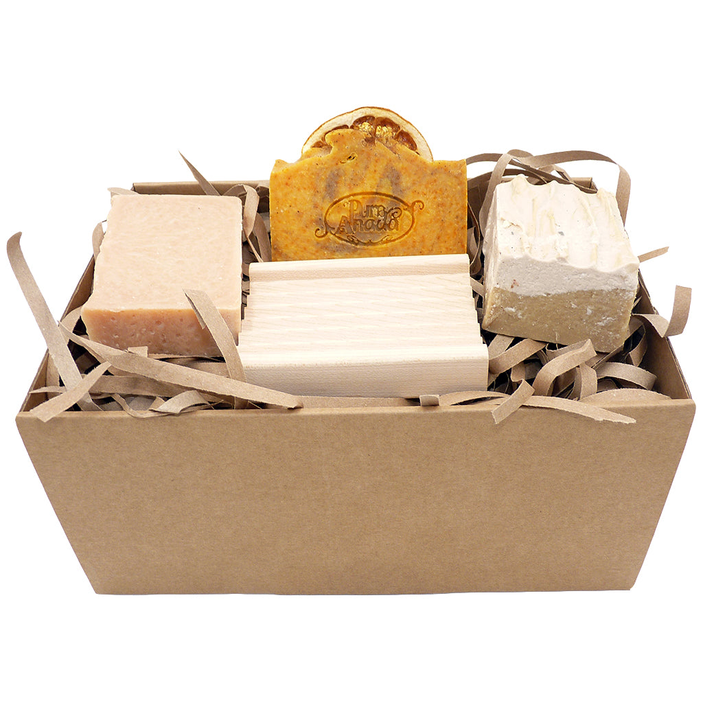 3 Handmade Soaps & Dish Gift Set - from Pure Anada