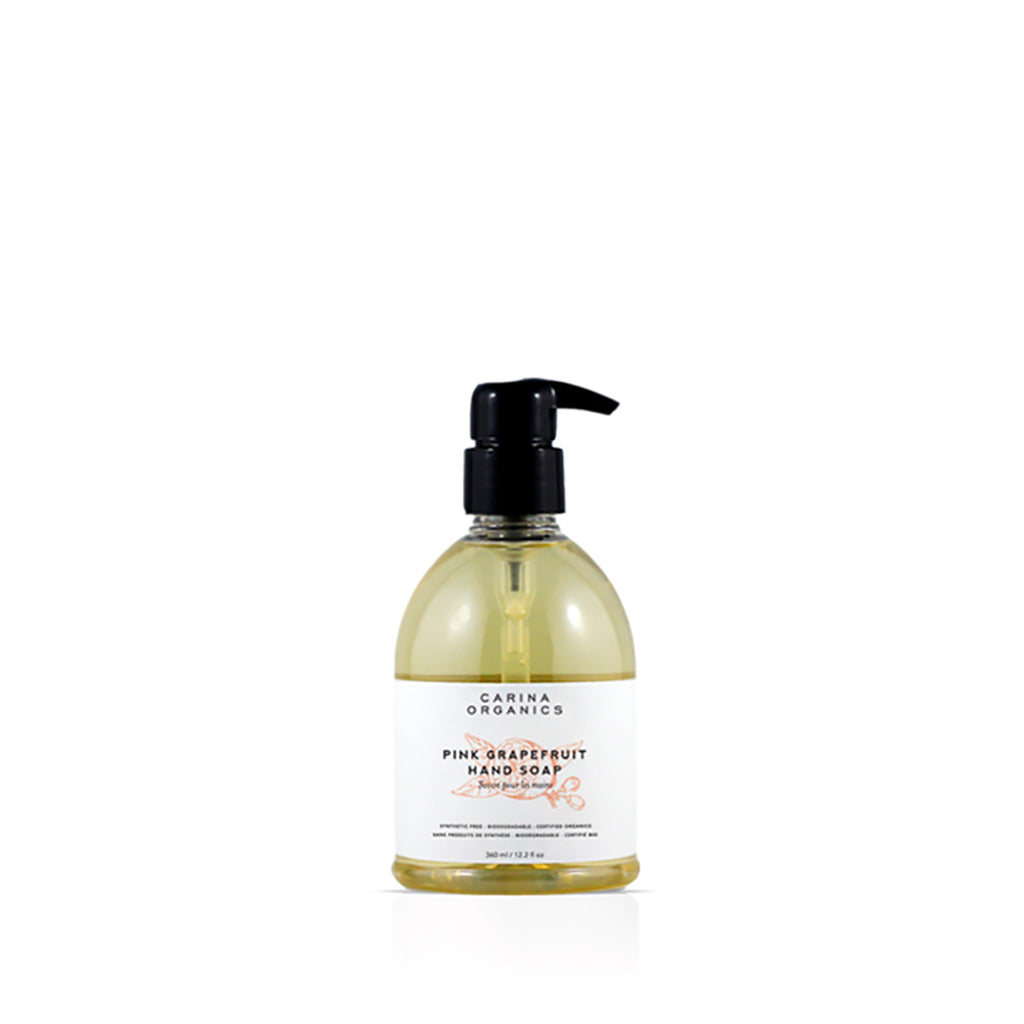 Pink Grapefruit Hand Soap 360ml-Carina Organics-Live in the Light