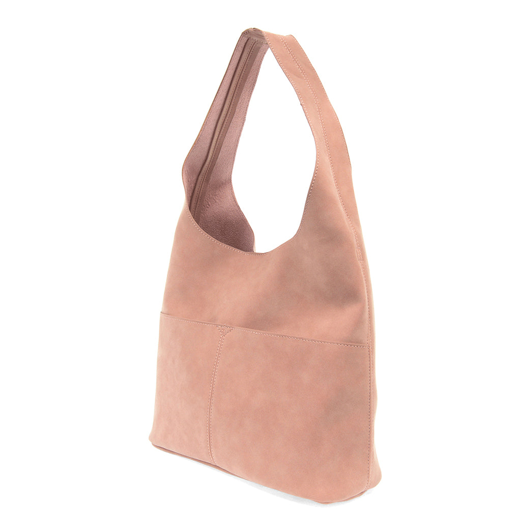 Jenny Faux Suede Hobo - Dusty Rose
