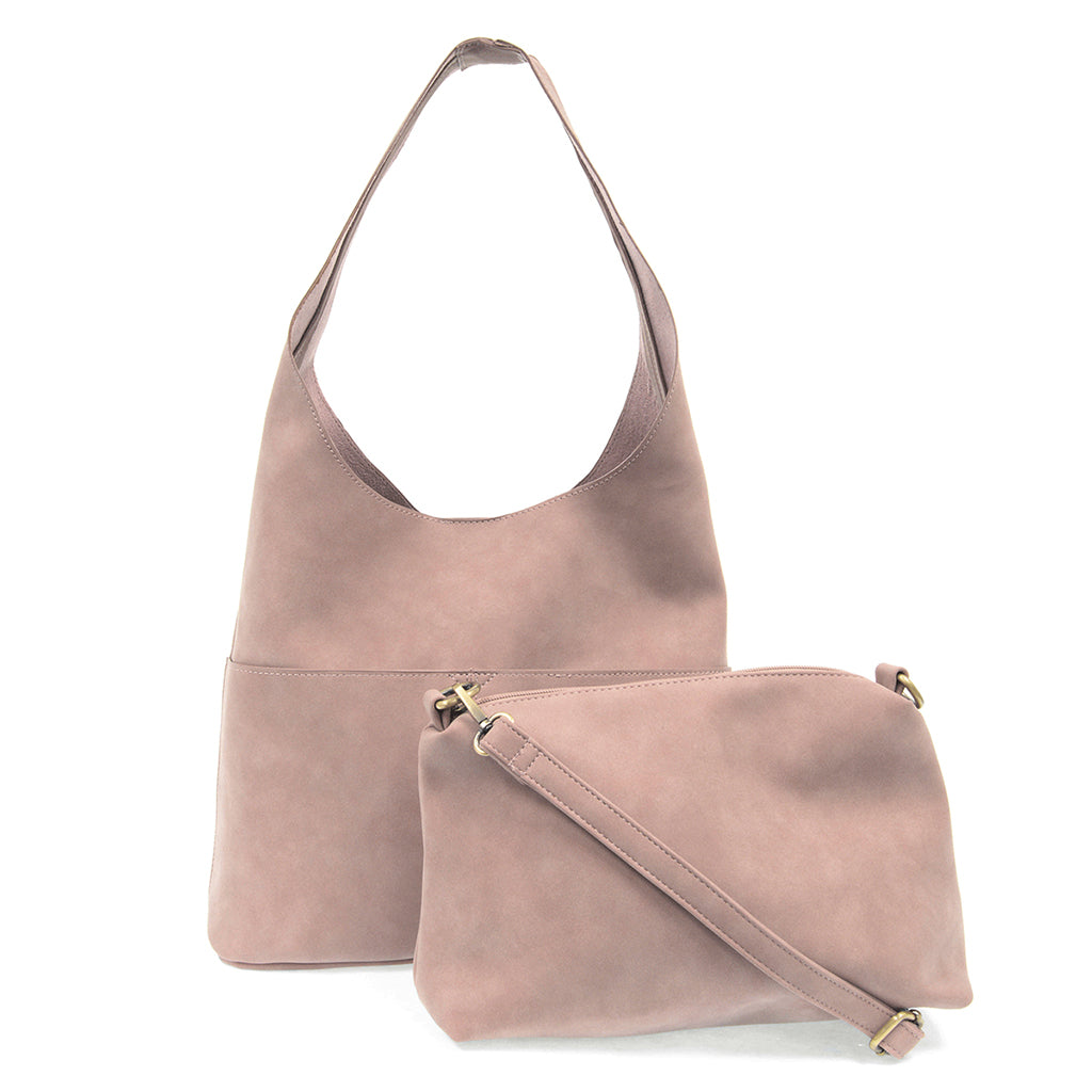 Jenny Faux Suede Hobo - Lilac