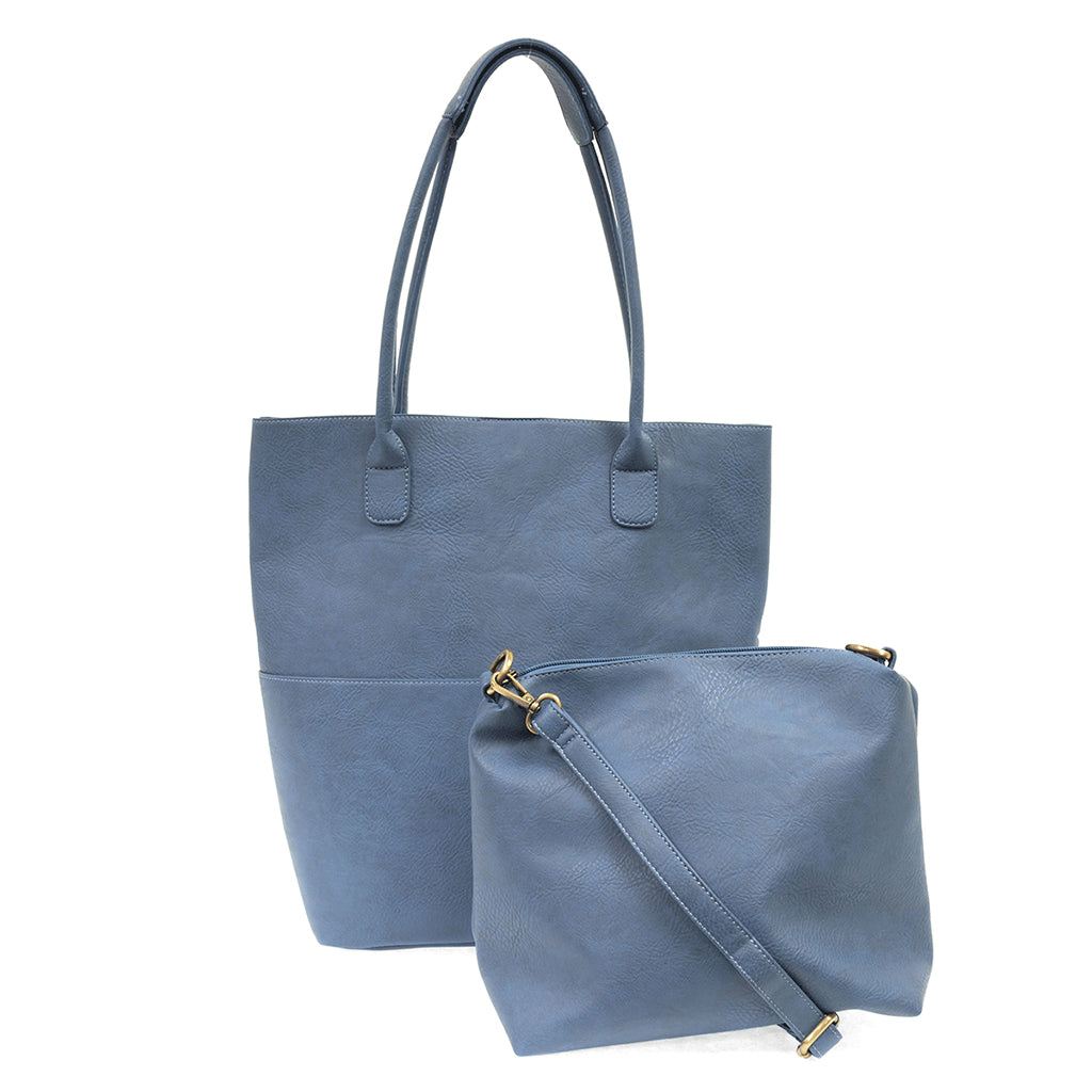 Kelly North South Front Pocket Tote - Chambray