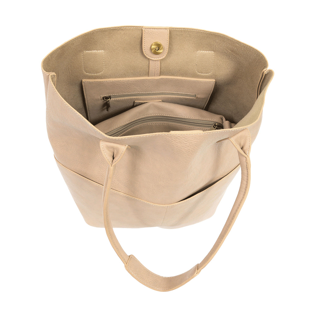 Kelly North South Front Pocket Tote - Oyster