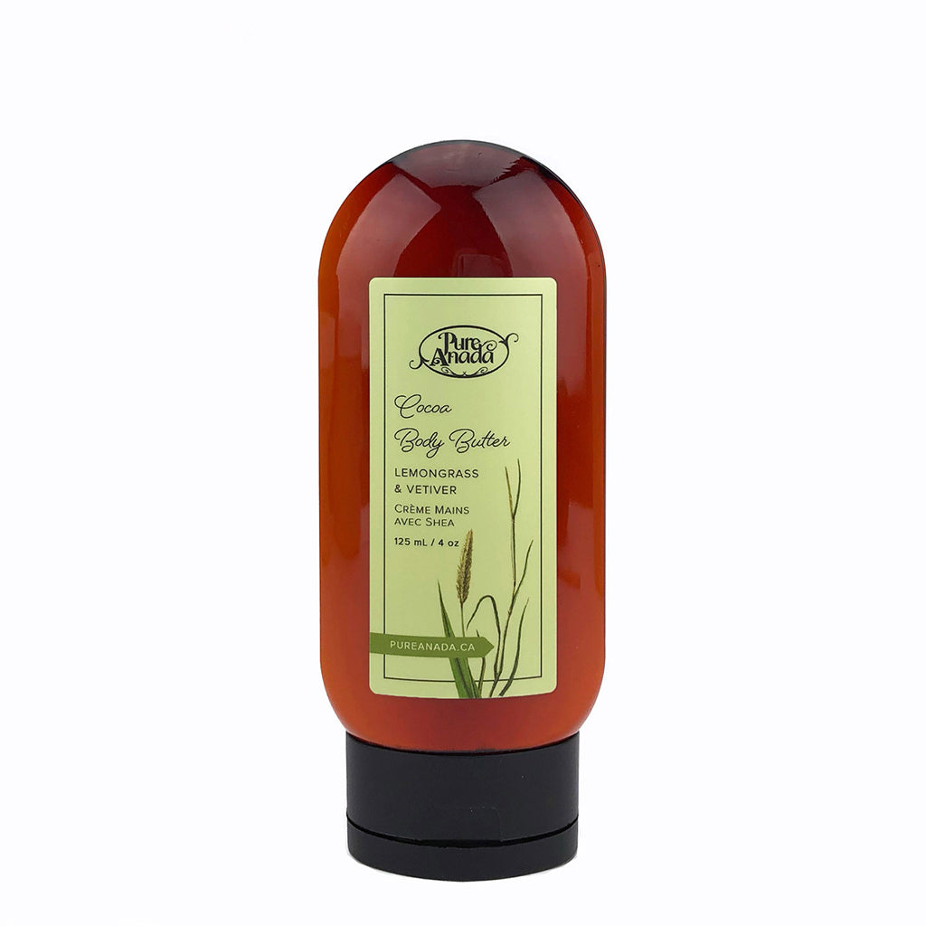 Cocoa Body Butter - Lemongrass & Vetiver 125ml