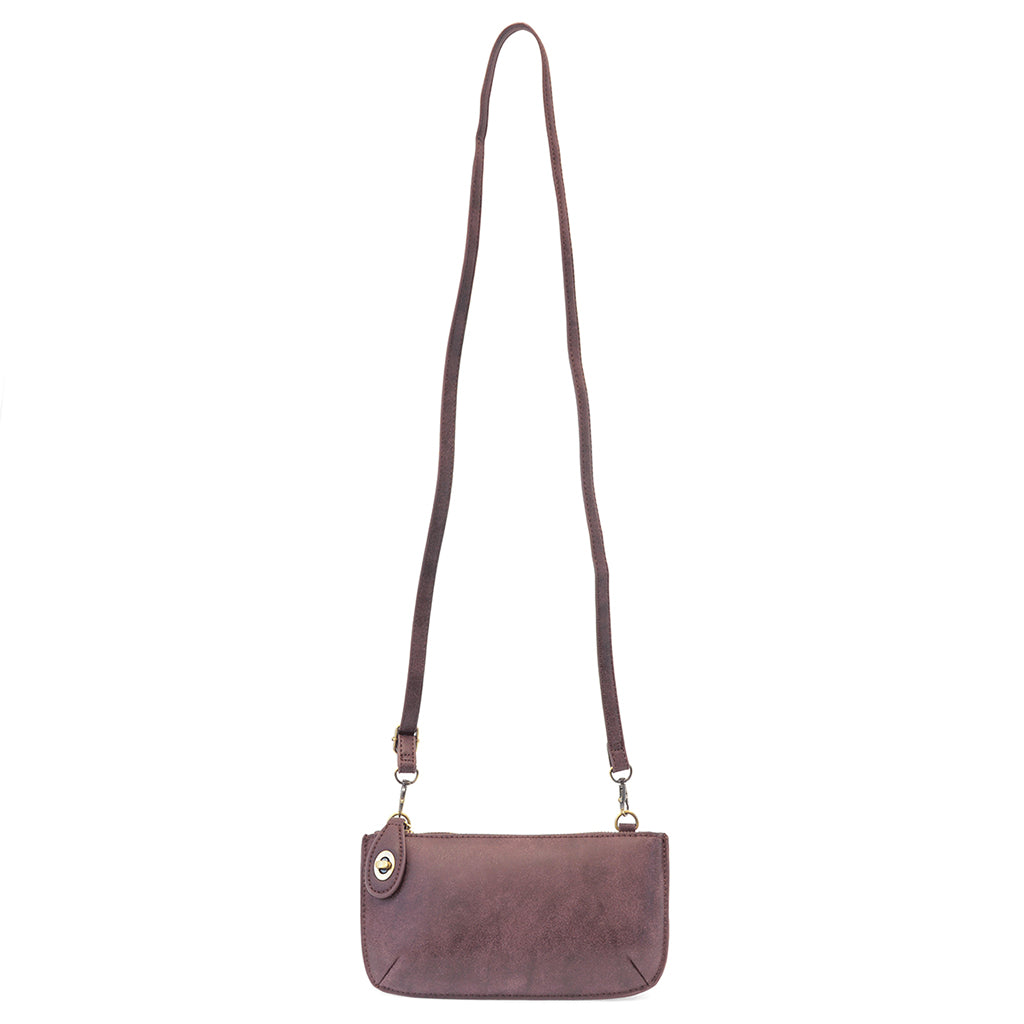 Lux Cross Body Wristlet Clutch - Aubergine