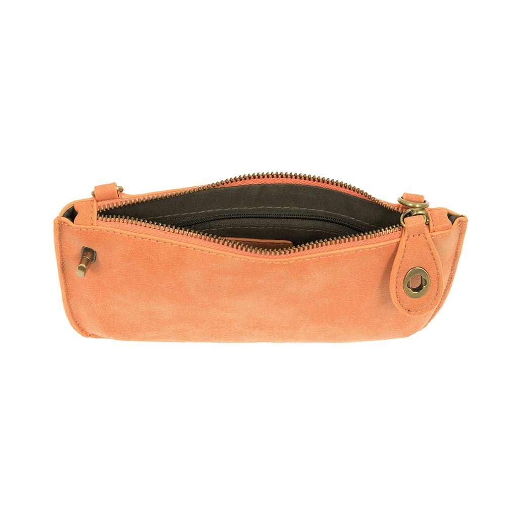 Lux Cross Body Wristlet Clutch - Cantelope