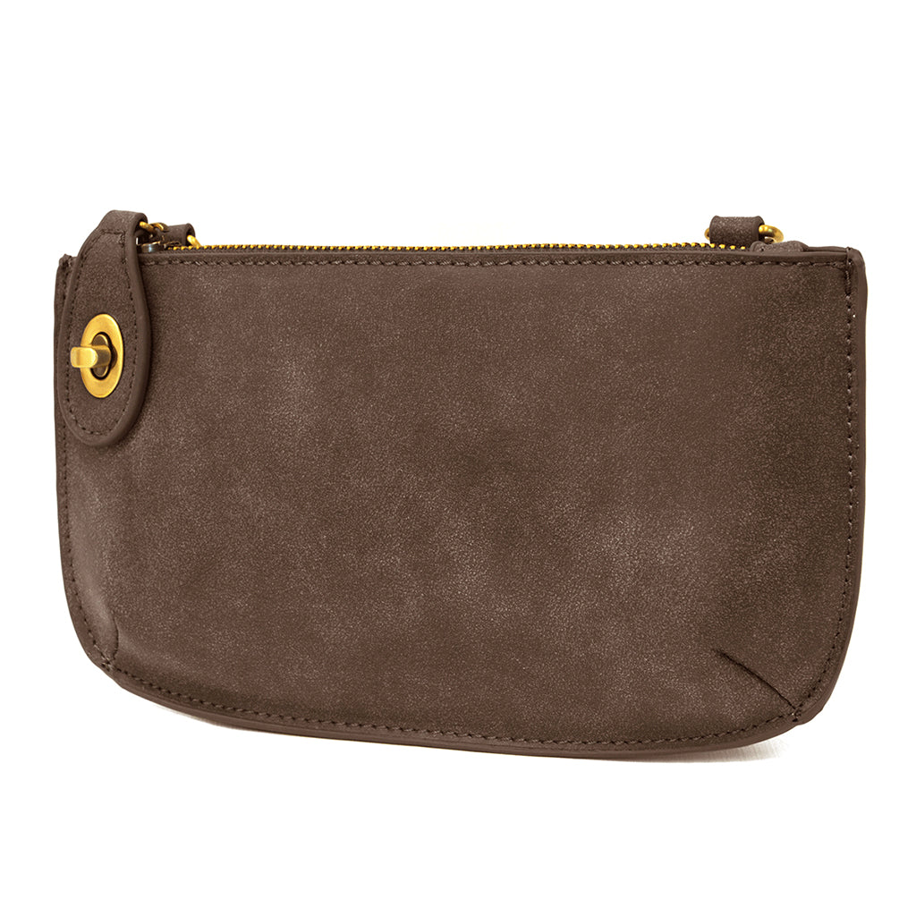 Lux Cross Body Wristlet Clutch - Mocha
