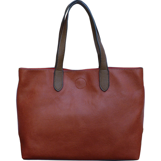 Mariah Medium Convertible Tote - Russett