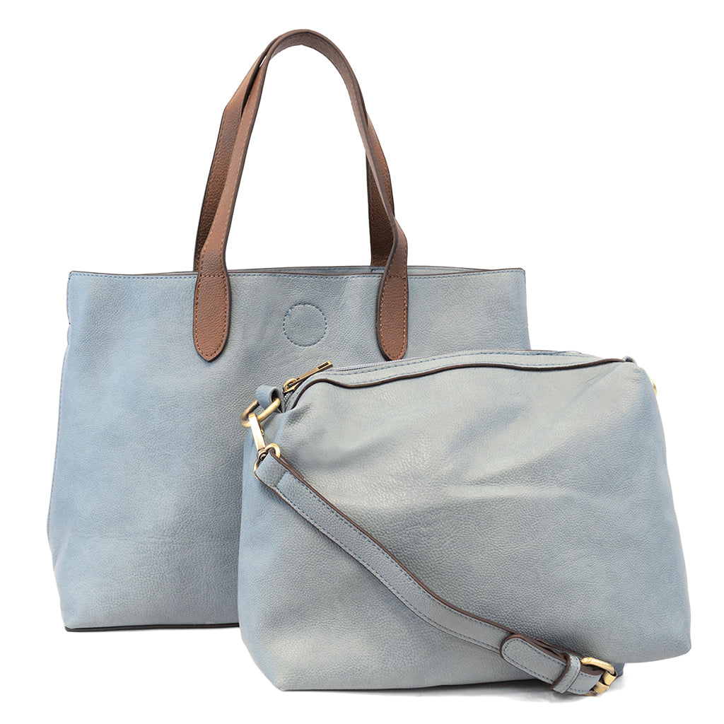 Mariah Medium Convertible Tote - Light Denim