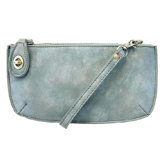 Lux Cross Body Wristlet Clutch - Mineral Blue