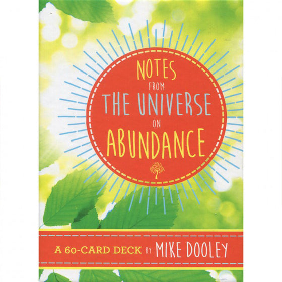 Notes from the Universe on Abundance Cards-Holistic-Live in the Light