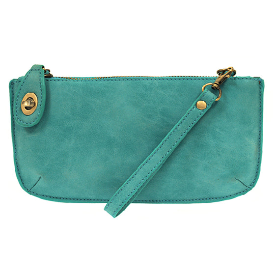 Lux Cross Body Wristlet Clutch - Pacific Blue