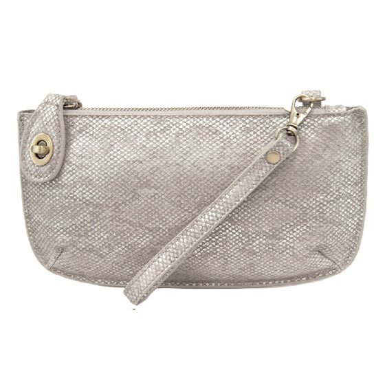 Python Cross Body Wristlet Clutch - Pearl