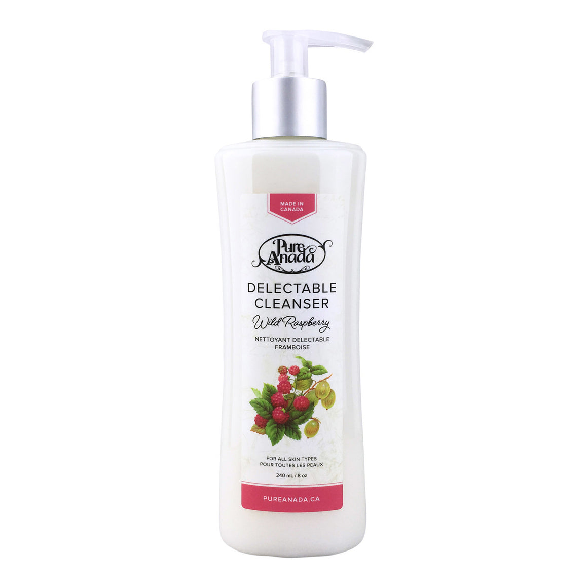 Wild Raspberry Delectable Cleanser 240ml-PureAnada-Live in the Light