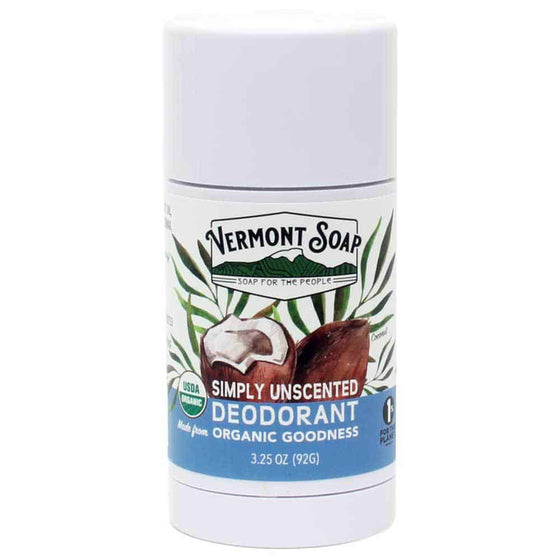 Organic Deodorant 3.25oz / 92g - Simply Unscented