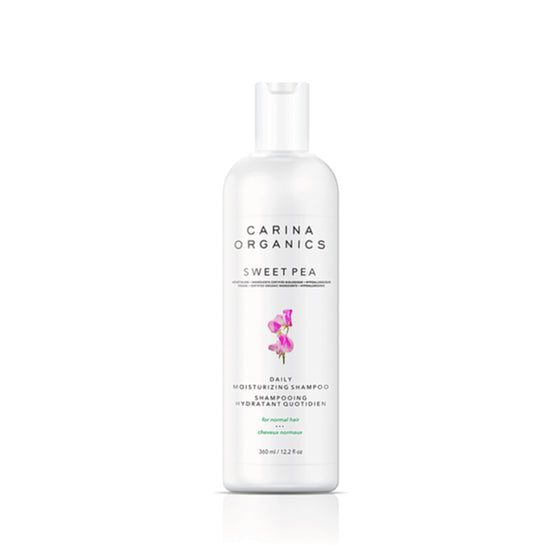 Sweet Pea Daily Moisturising Shampoo 360ml-Carina Organics-Live in the Light