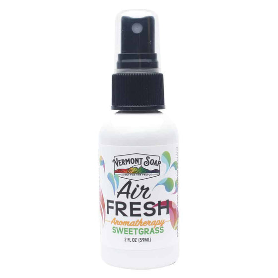 Air Fresh Aromatherapy Spray Mister - Sweetgrass-VERMONT SOAP-Live in the Light