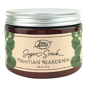Tahitian Gardenia Sugar Scrub 340ml-PureAnada-Live in the Light