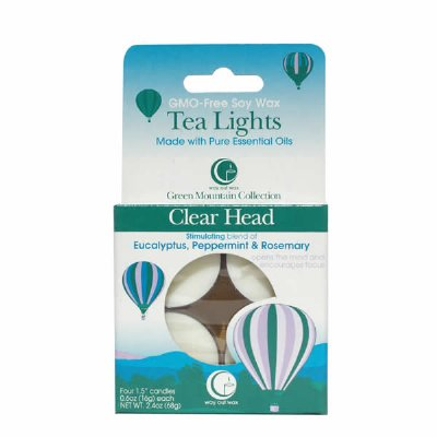 Clear Head Tealights (set of 4)-Way Out Wax Candles-Live in the Light