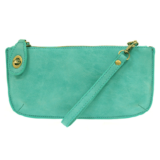 Lux Cross Body Wristlet Clutch - Turquoise