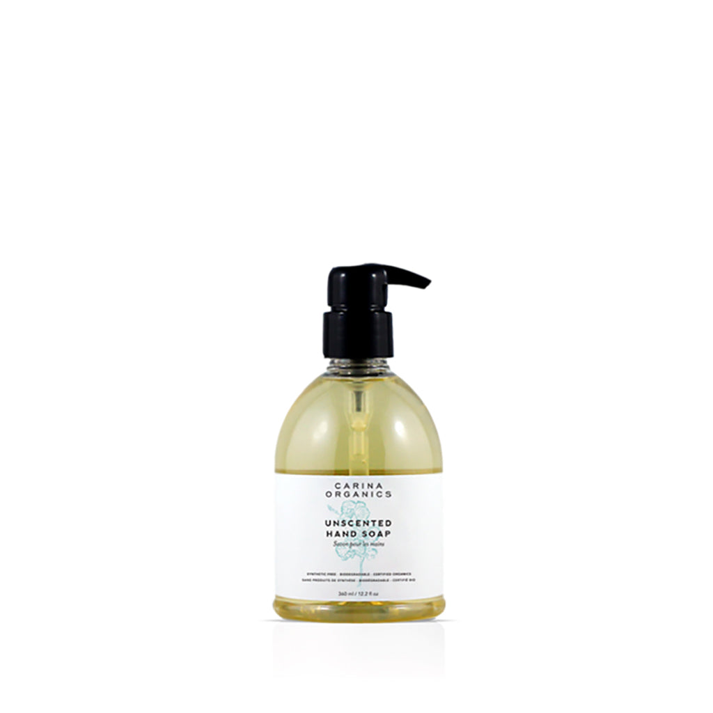 Unscented Hand Soap 360ml-Carina Organics-Live in the Light