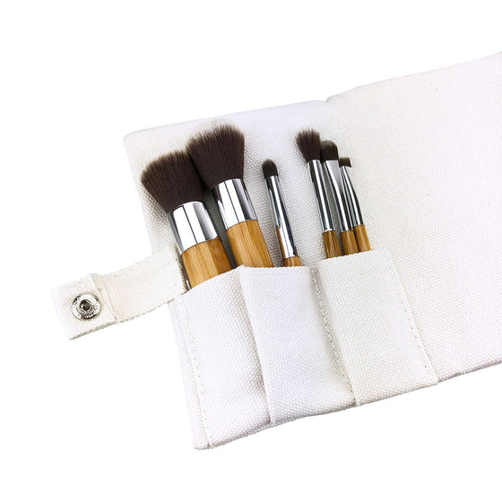 6 Piece Vegan Brush Ensemble