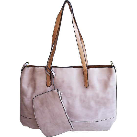 Brushed 2 in 1 Tote - Wisteria