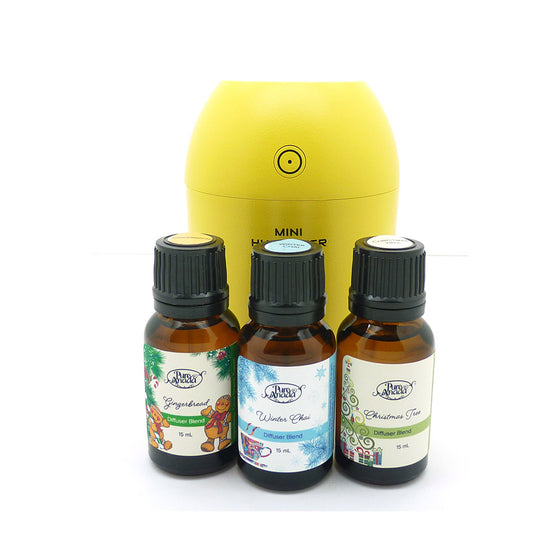 3 Christmas Oils & Diffuser Gift Set-PureAnada-Live in the Light