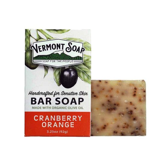 Handmade Bar Soap - Cranberry Orange 92g