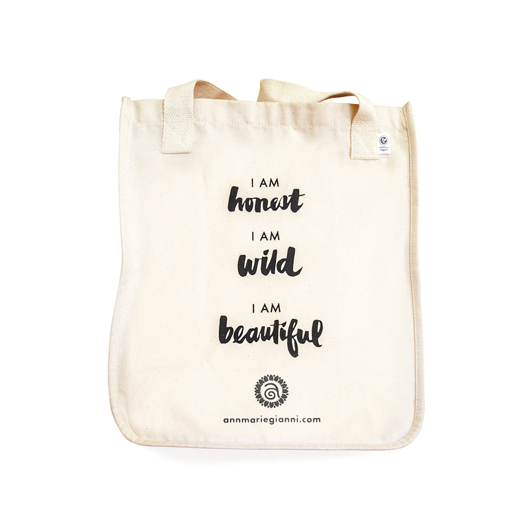 *LIMITED ADDITION* Honest Wild Beautiful Tote Bag-AnnMarieGianni-Live in the Light