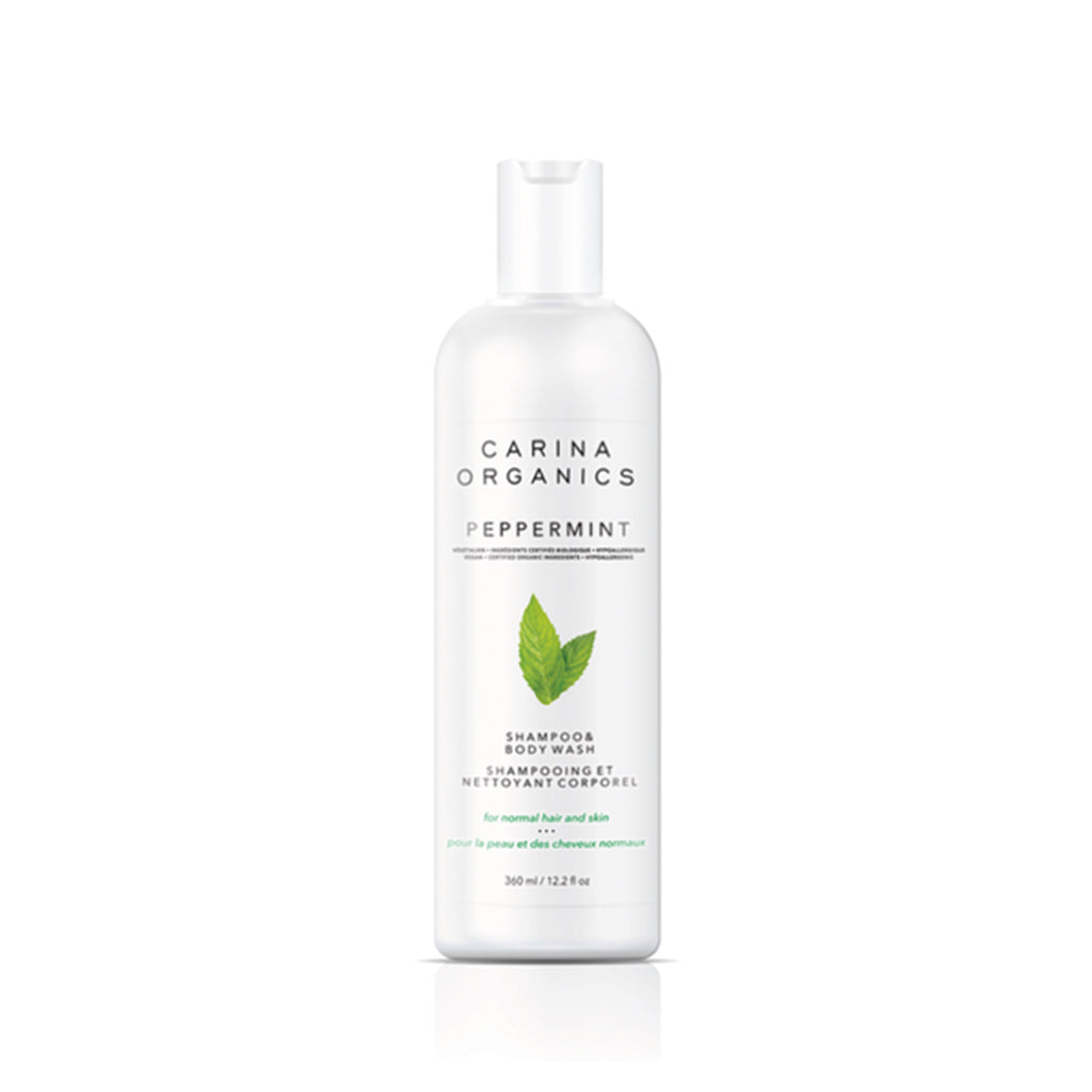 Peppermint Shampoo And Body Wash 360ml-Carina Organics-Live in the Light