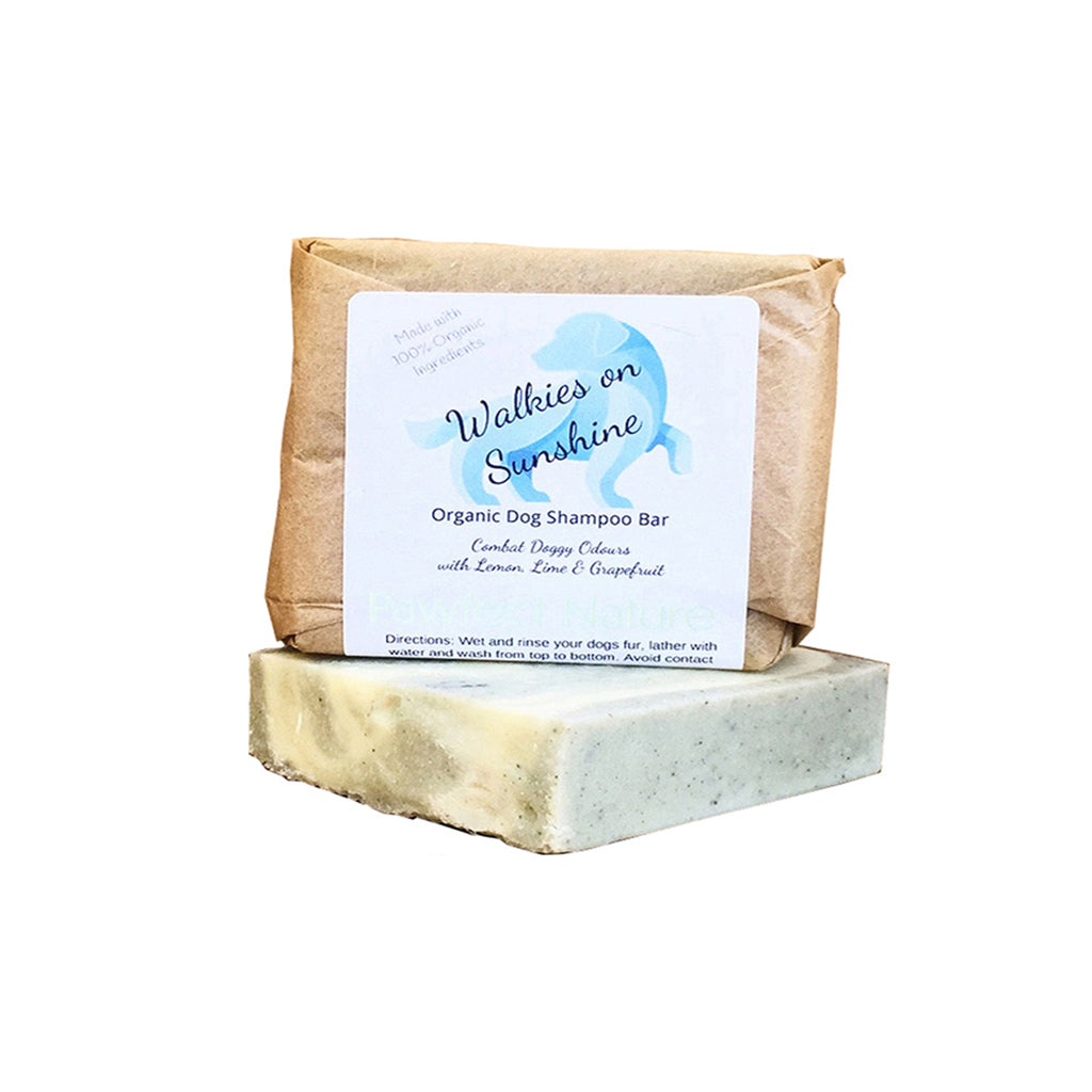 Walkies on Sunshine Organic Dog Shampoo Bar – Spruce Pup for Summer 110g