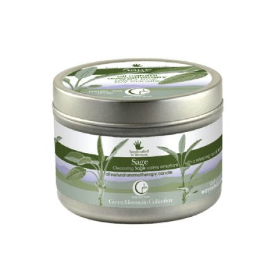 Sage Large Tin 6.7oz-Way Out Wax Candles-Live in the Light