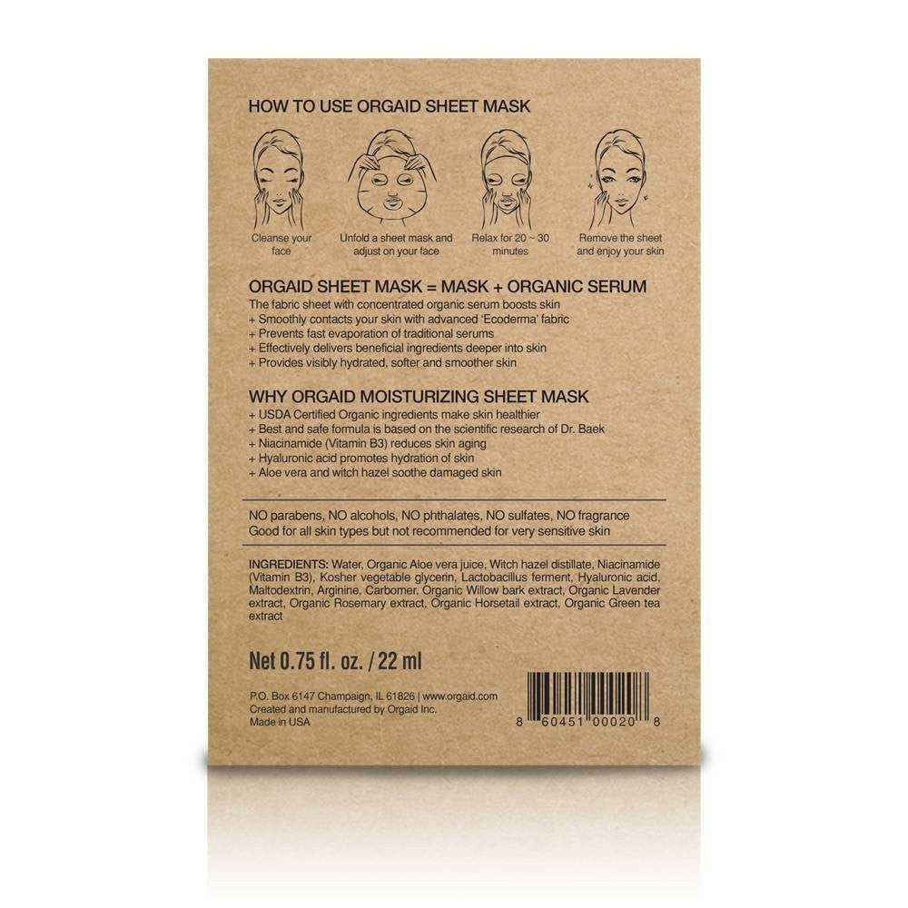 Anti-Aging & Moisturising Organic Sheet Mask x 1-Orgaid-Live in the Light