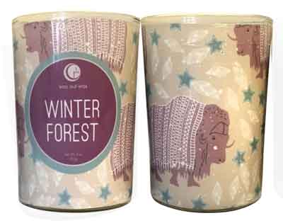 Winter Forest Glass Tumbler with Sleeve 6oz-Way Out Wax Candles-Live in the Light