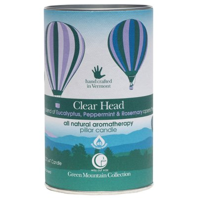 Clear Head Pillar 14oz-Way Out Wax Candles-Live in the Light