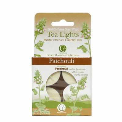 Patchouli Tealights (Set of 4)-Way Out Wax Candles-Live in the Light