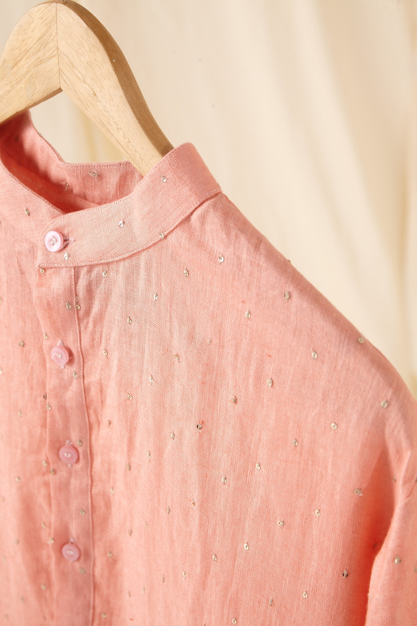The Cotton Candy Linen Kurta Pajama Set