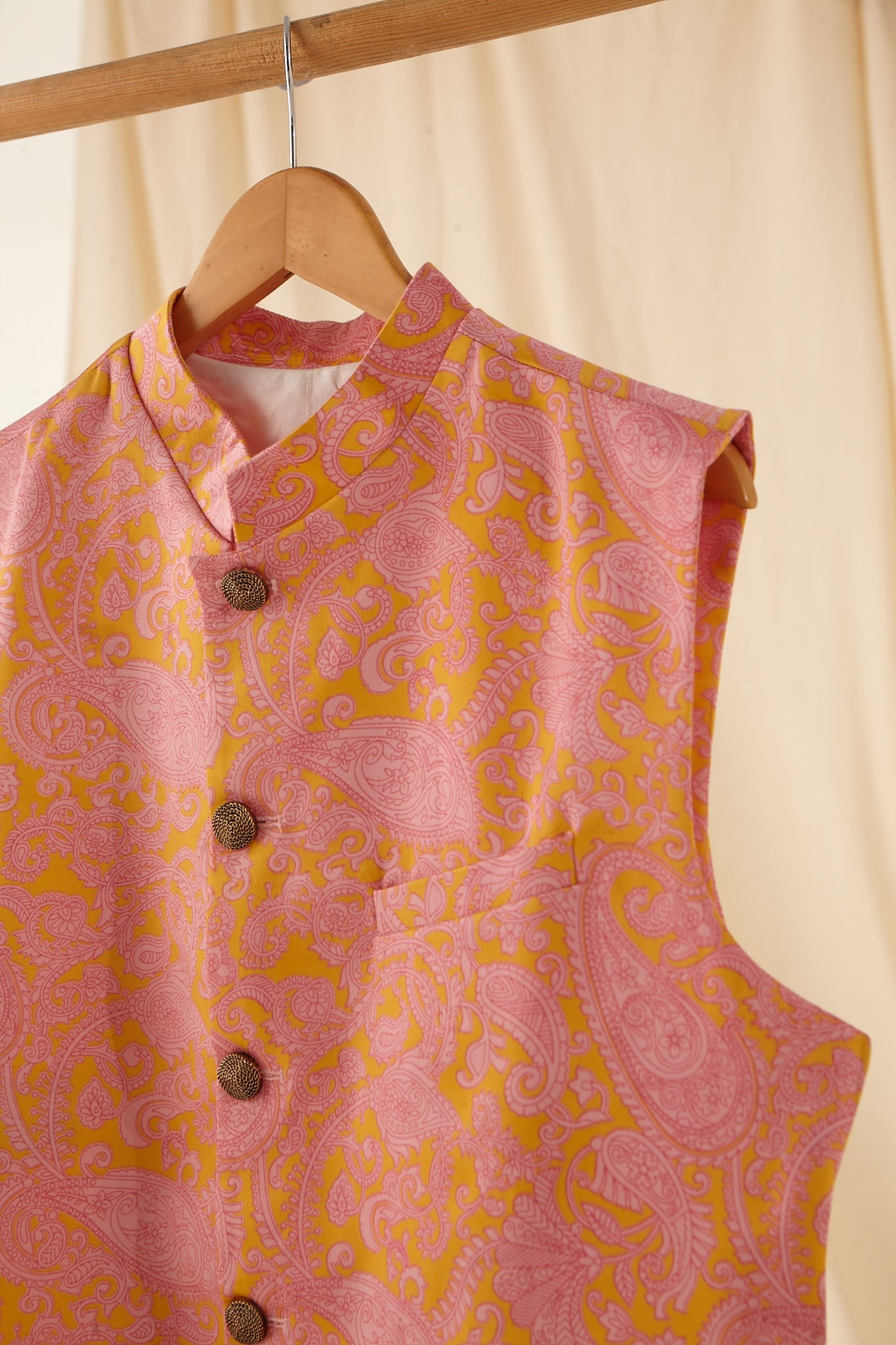 The Rose Power Paisley Cotton-Silk Bandi