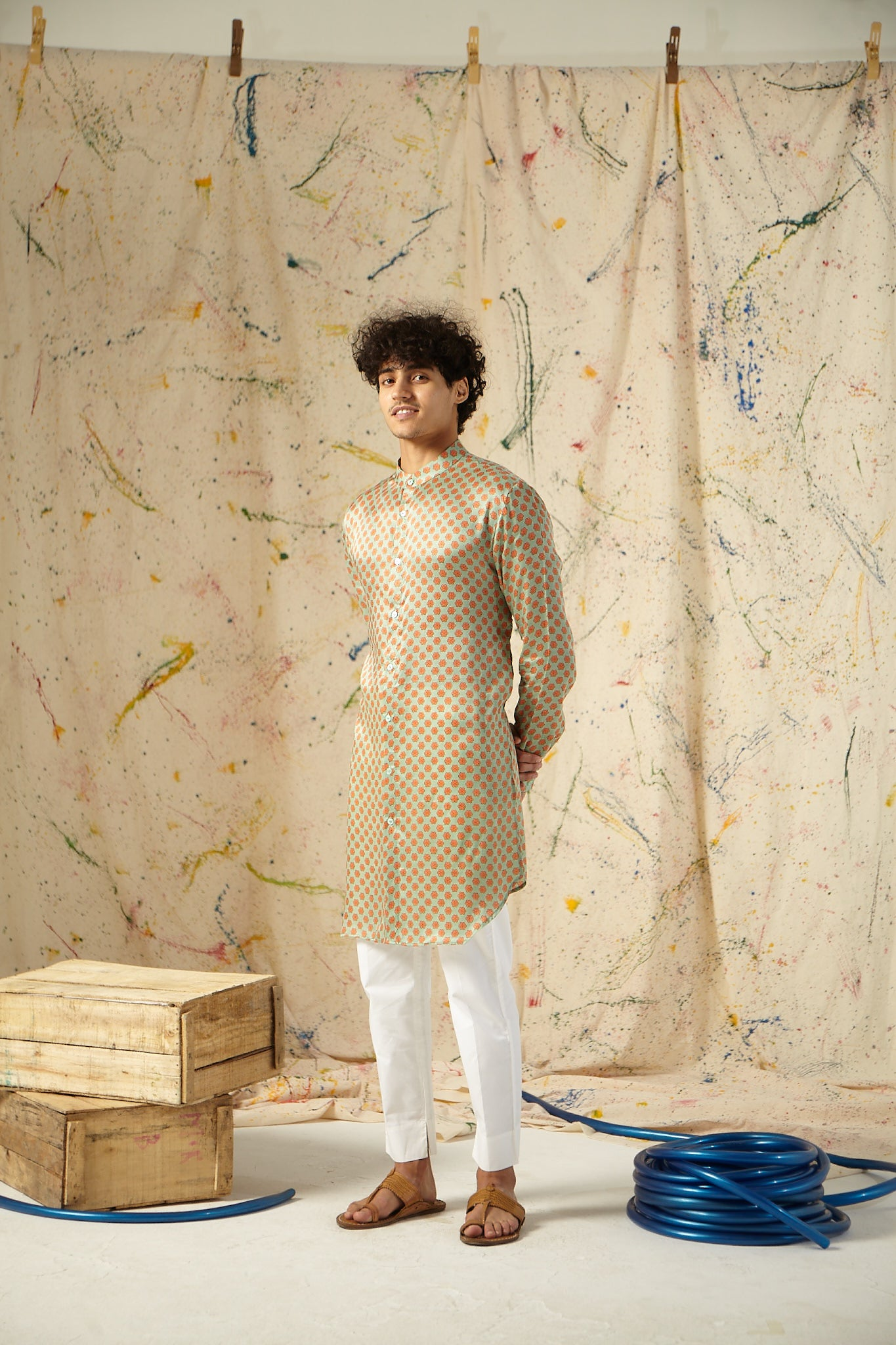 The Valencia Cotton-Silk Kurta Pajama Set
