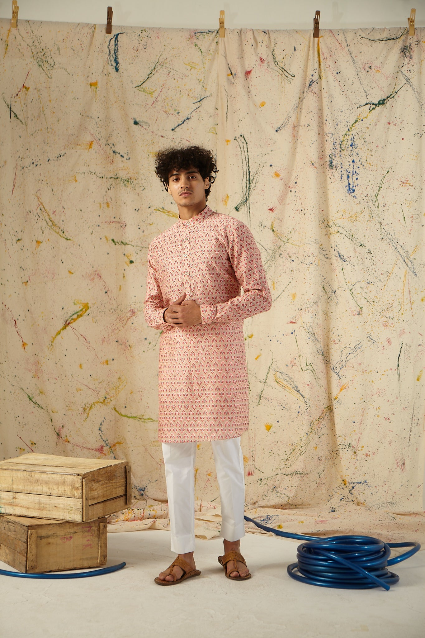 The Latte and Punch Cotton Kurta Pajama Set