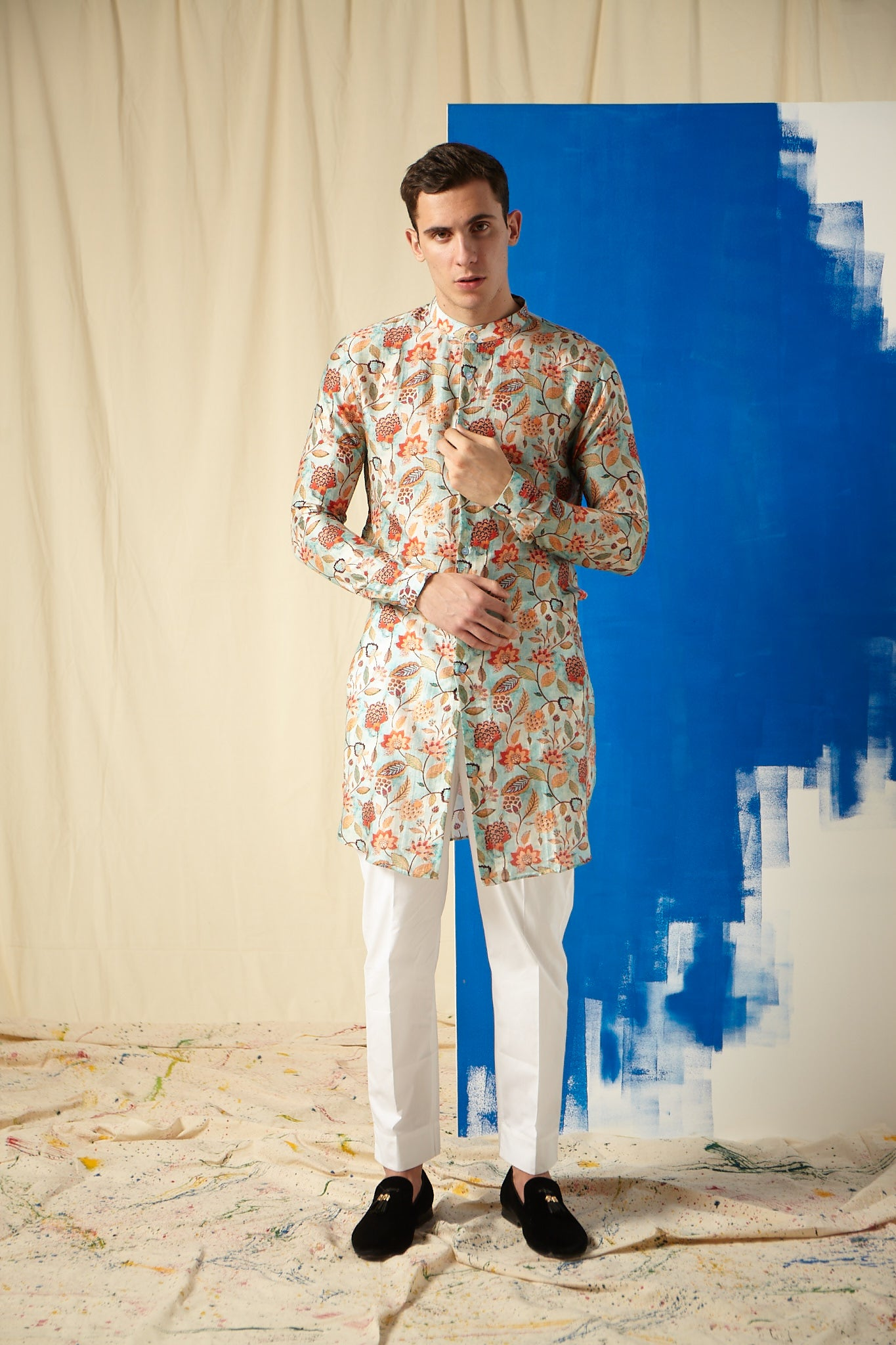 The Caribbean Cotton Kurta Pajama Set