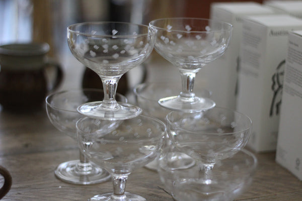 French champagne coupes