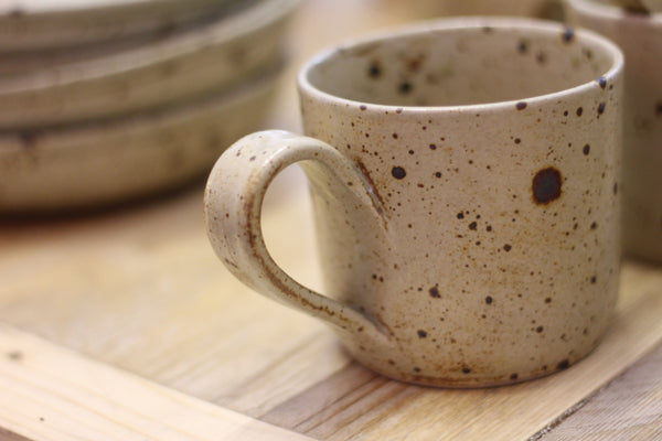 Handmade French ceramic mug