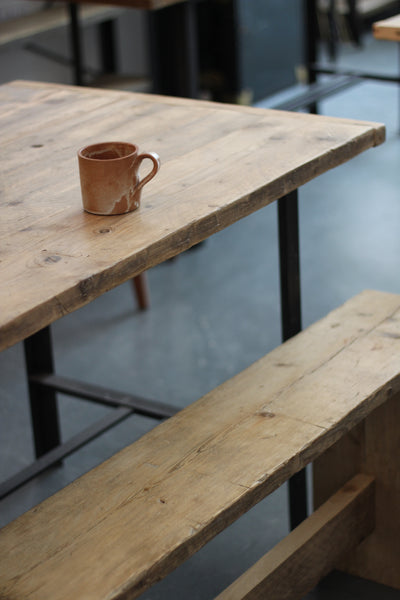 Handmade Reclaimed Wood and Steel Tables