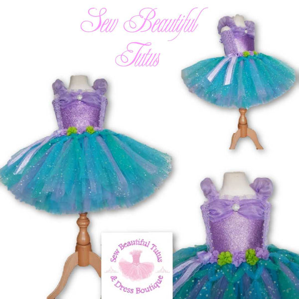 Mermaid inspired Sparkle Tutu Dress