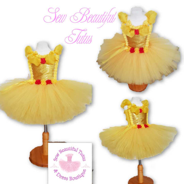 Belle inspired Tutu Dress - Plain Tulle