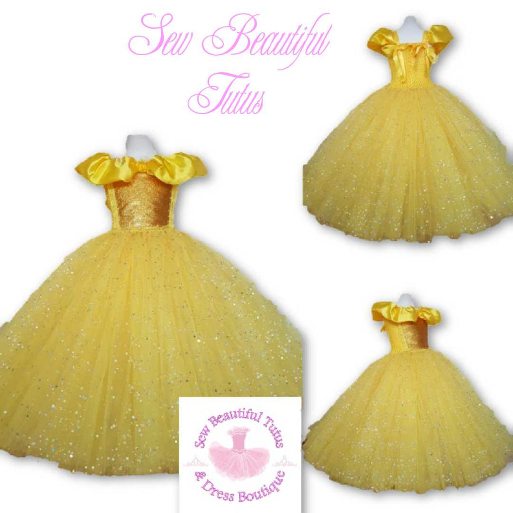 Belle inspired Sparkle Ballgown (yellow rose) – Sew ...